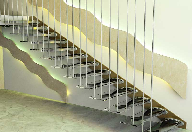Merveilleux A Cantilevered Staircase Is A Design In Which Each Tread Is Fixed Only At  One End The Support Structure Is Hidden Within Each Tread And Behind The  Face Of ...